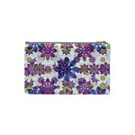 Stylized Floral Ornate Pattern Cosmetic Bag (Small)  Back