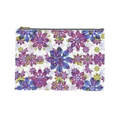 Stylized Floral Ornate Pattern Cosmetic Bag (large)