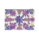 Stylized Floral Ornate Pattern Cosmetic Bag (Large)  Back