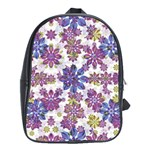 Stylized Floral Ornate Pattern School Bags(Large)  Front