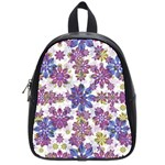 Stylized Floral Ornate Pattern School Bags (Small)  Front
