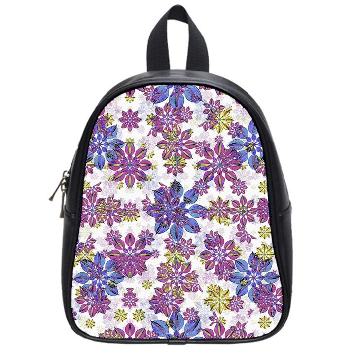 Stylized Floral Ornate Pattern School Bags (Small)