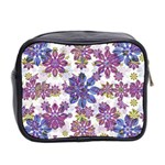 Stylized Floral Ornate Pattern Mini Toiletries Bag 2-Side Back