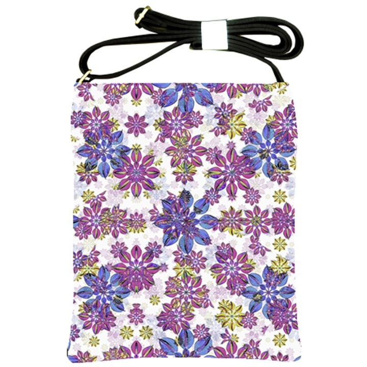 Stylized Floral Ornate Pattern Shoulder Sling Bags