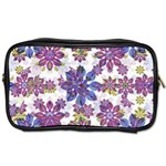 Stylized Floral Ornate Pattern Toiletries Bags Front