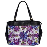 Stylized Floral Ornate Pattern Office Handbags Front