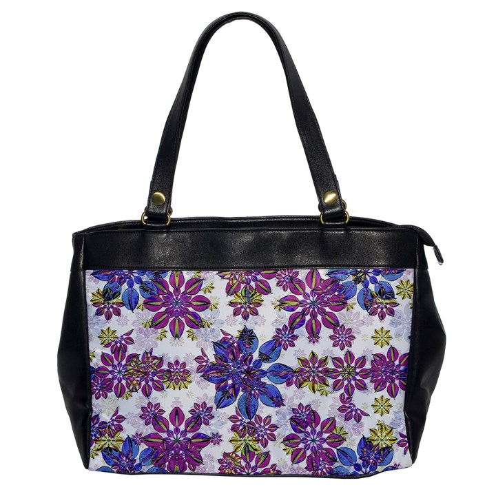 Stylized Floral Ornate Pattern Office Handbags