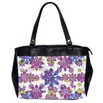 Stylized Floral Ornate Pattern Office Handbags (2 Sides)  Front