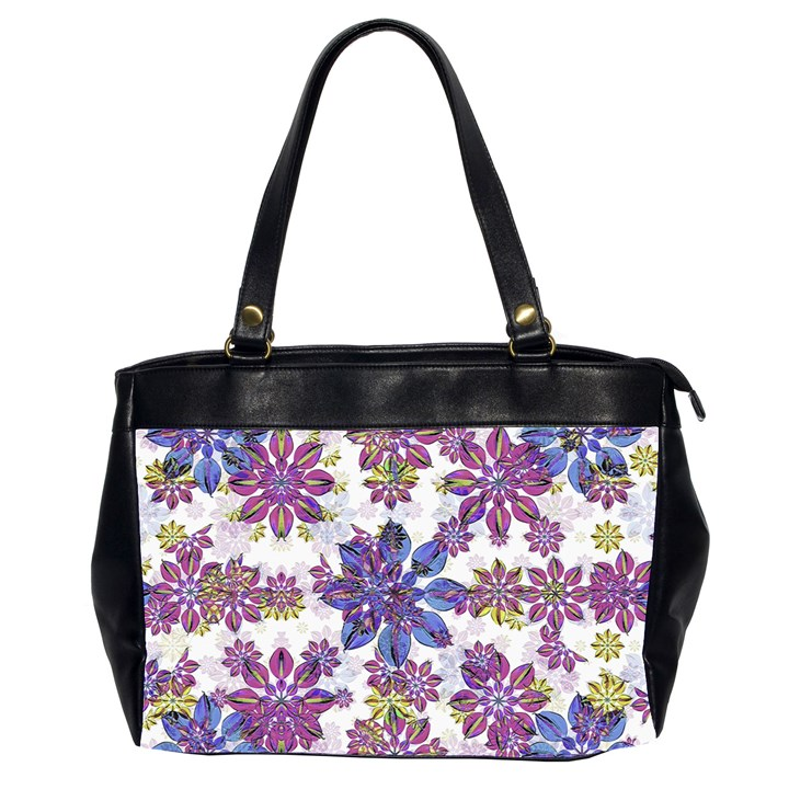 Stylized Floral Ornate Pattern Office Handbags (2 Sides)