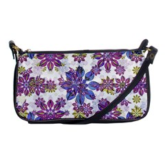 Stylized Floral Ornate Pattern Shoulder Clutch Bags