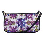Stylized Floral Ornate Pattern Shoulder Clutch Bags Front