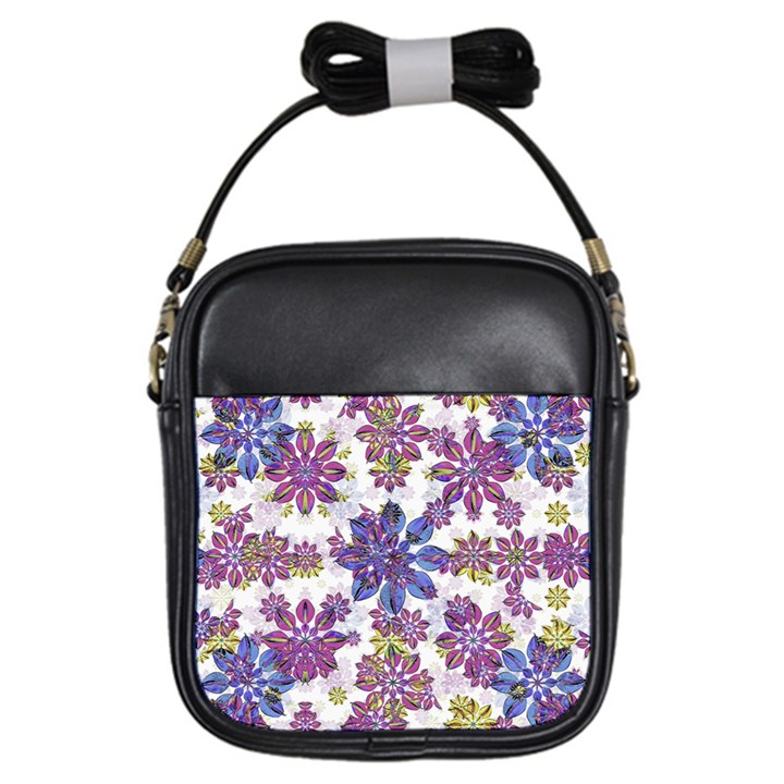 Stylized Floral Ornate Pattern Girls Sling Bags