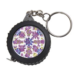 Stylized Floral Ornate Pattern Measuring Tapes