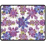 Stylized Floral Ornate Pattern Fleece Blanket (Medium)  60 x50 Blanket Front