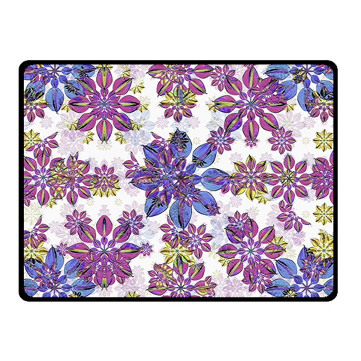 Stylized Floral Ornate Pattern Fleece Blanket (Small)