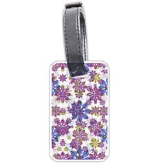 Stylized Floral Ornate Pattern Luggage Tags (One Side)