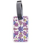 Stylized Floral Ornate Pattern Luggage Tags (Two Sides) Front