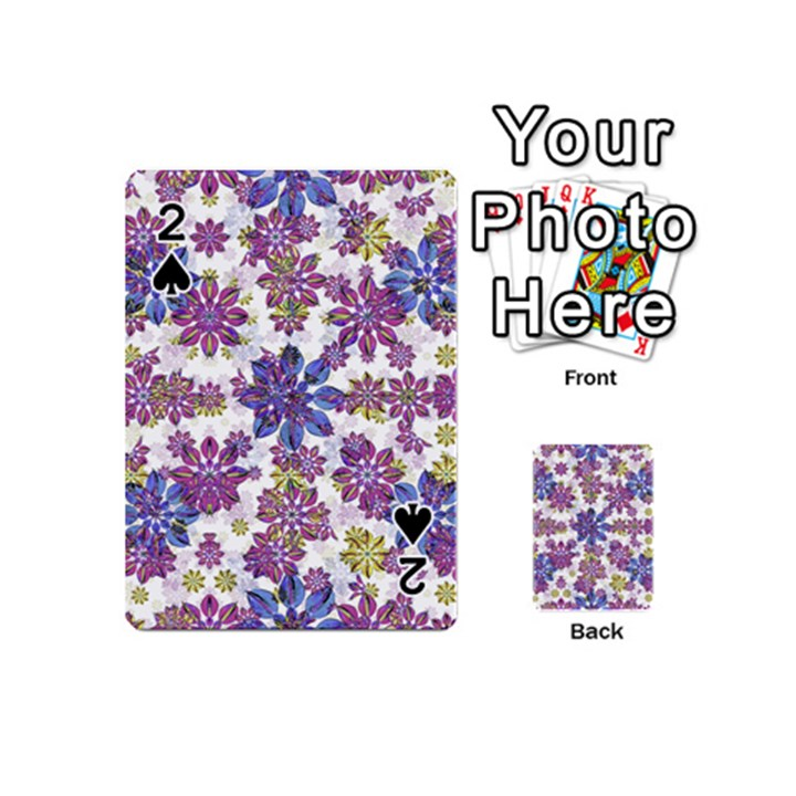 Stylized Floral Ornate Pattern Playing Cards 54 (Mini)