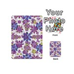Stylized Floral Ornate Pattern Playing Cards 54 (Mini)  Back