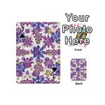 Stylized Floral Ornate Pattern Playing Cards 54 (Mini)  Front - SpadeJ