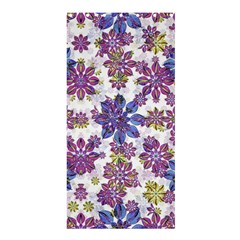 Stylized Floral Ornate Pattern Shower Curtain 36  X 72  (stall)