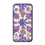 Stylized Floral Ornate Pattern Apple iPhone 4 Case (Black) Front