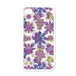Stylized Floral Ornate Pattern Apple iPhone 4 Case (White) Front