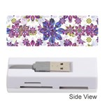 Stylized Floral Ornate Pattern Memory Card Reader (Stick)  Front