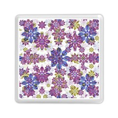 Stylized Floral Ornate Pattern Memory Card Reader (Square)