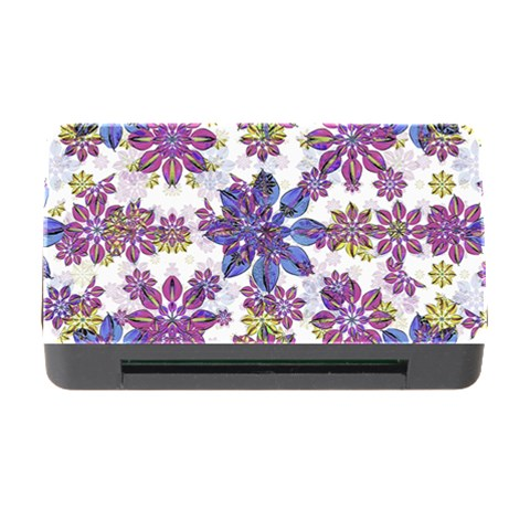 Stylized Floral Ornate Pattern Memory Card Reader with CF