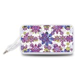 Stylized Floral Ornate Pattern Portable Speaker (White)  Front