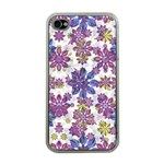 Stylized Floral Ornate Pattern Apple iPhone 4 Case (Clear) Front