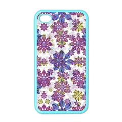 Stylized Floral Ornate Pattern Apple Iphone 4 Case (color)