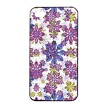 Stylized Floral Ornate Pattern Apple iPhone 4/4s Seamless Case (Black) Front