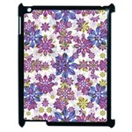 Stylized Floral Ornate Pattern Apple iPad 2 Case (Black) Front