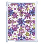 Stylized Floral Ornate Pattern Apple iPad 2 Case (White) Front