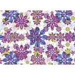 Stylized Floral Ornate Pattern I Love You 3D Greeting Card (7x5) Back
