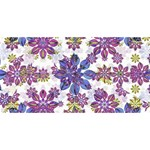 Stylized Floral Ornate Pattern BELIEVE 3D Greeting Card (8x4) Front