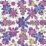 Stylized Floral Ornate Pattern ENGAGED 3D Greeting Card (8x4) Inside
