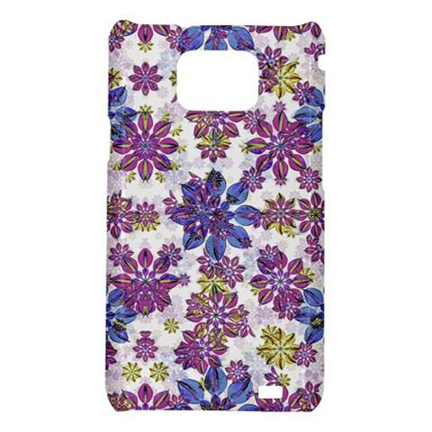 Stylized Floral Ornate Pattern Samsung Galaxy S2 i9100 Hardshell Case
