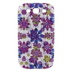 Stylized Floral Ornate Pattern Samsung Galaxy S III Hardshell Case