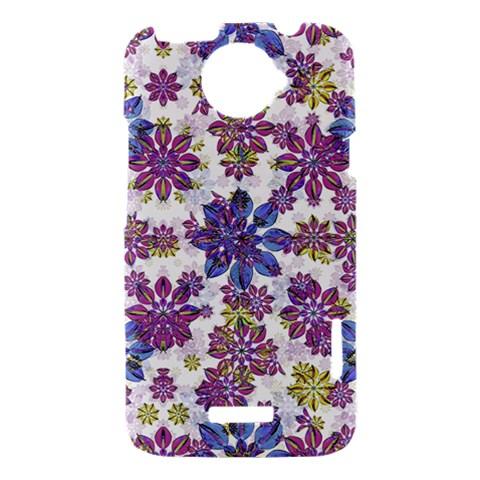 Stylized Floral Ornate Pattern HTC One X Hardshell Case