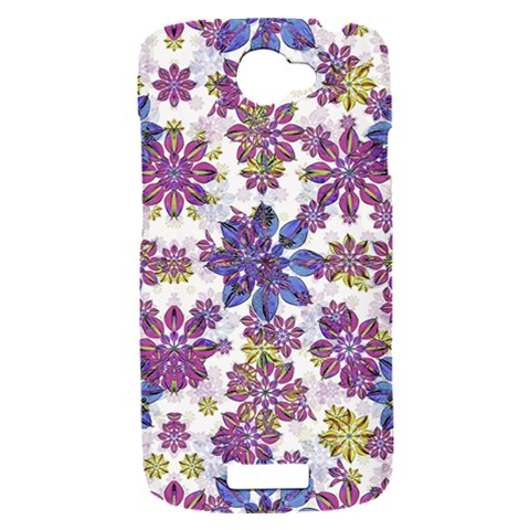 Stylized Floral Ornate Pattern HTC One S Hardshell Case