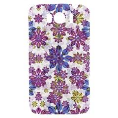 Stylized Floral Ornate Pattern HTC Sensation XL Hardshell Case