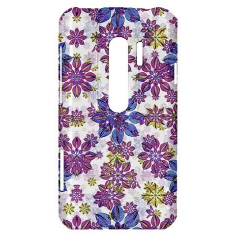 Stylized Floral Ornate Pattern HTC Evo 3D Hardshell Case