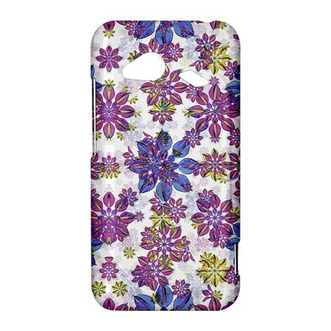 Stylized Floral Ornate Pattern HTC Droid Incredible 4G LTE Hardshell Case