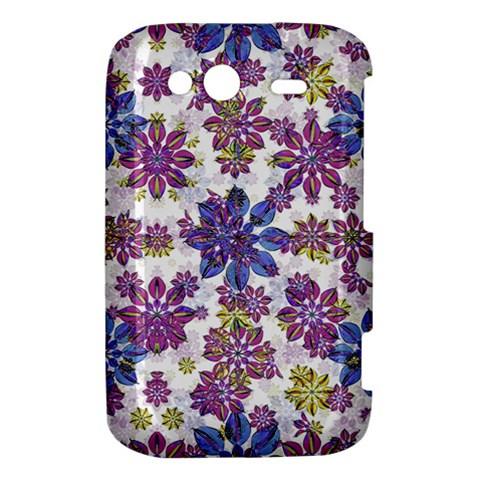 Stylized Floral Ornate Pattern HTC Wildfire S A510e Hardshell Case
