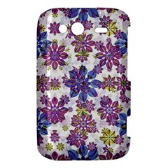 Stylized Floral Ornate Pattern HTC Wildfire S A510e Hardshell Case