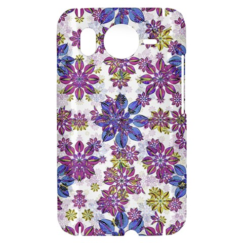 Stylized Floral Ornate Pattern HTC Desire HD Hardshell Case