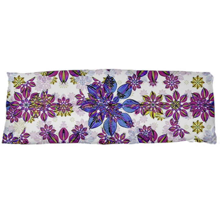 Stylized Floral Ornate Pattern Body Pillow Case (Dakimakura)